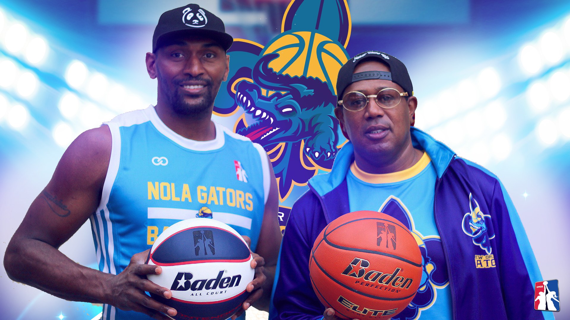 MASTER P AND THE NEW ORLEANS GATORS SIGN METTA WORLD PEACE FORMERLY KNOWN  AS RON ARTEST cc5b6ea94