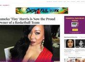 Tiny Harris on Essence Magazine